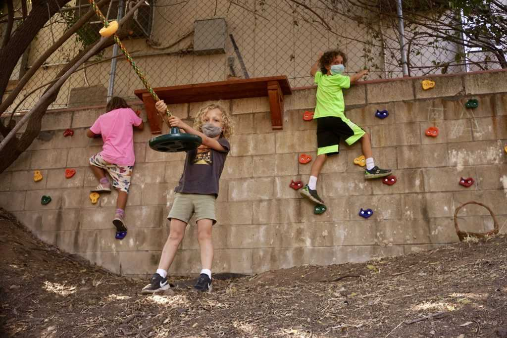 Students playing at recess at The Waldorf School of San Diego